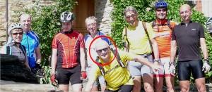 Christophe Magnier en cyclotouriste
