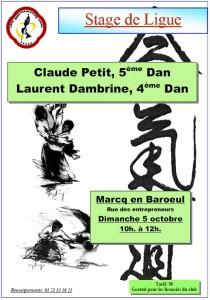 Stage de ligue à Marcq-en-Baroeul le 5 octobre