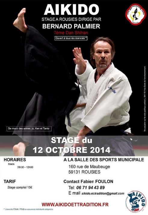 Stage de Bernard Palmier 7e Dan Shihan à Rousies le 12 octobre