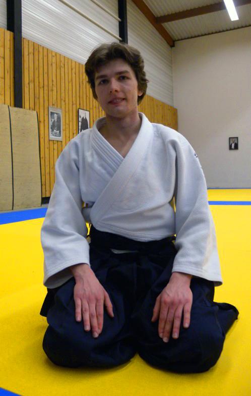 Julien Mathieu lors du passage du grade de 1er Dan en janvier 2014