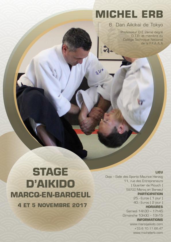 Affiche du stage de Michel Erb à Marcq, novembre 2017