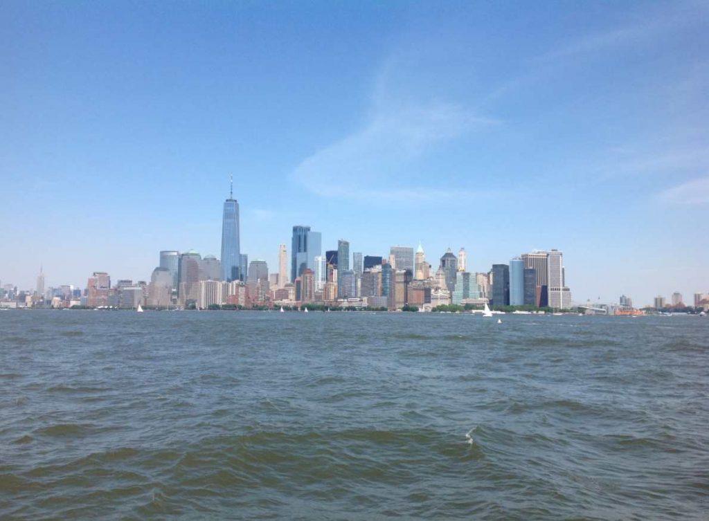 vue de Manhattan depuis le bateau.